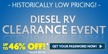 Luxury RV Diesel Clearance
