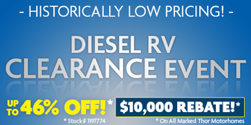 Luxury RV Diesel Clearance